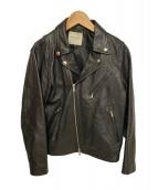 FREAKS STORE(フリークスストア)の古着「レザーライダースジャケット」 ブラック