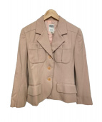 CELINE(セリーヌ)の古着「[VNTG]オールドテーラードジャケット」 ピンク
