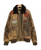US NAVY(ユーエスネイビー)の古着「G-1フライトジャケット」|ブラウン