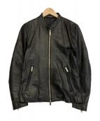 STUDIOUS(ステュディオス)の古着「ラムレザーライダースジャケット」|ブラック