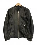 STUDIOUS()の古着「ラムレザーライダースジャケット」|ブラック