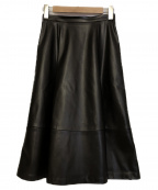 M-premierBLACK(エルプルミエラブラック)の古着「エコレザースカート」 ブラック