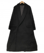 ETHOSENS(エトセンス)の古着「ショールカラースーパーロングコート」|ブラック