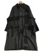 ()の古着「オーバーサイズチェックコート」 グレー