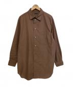 LOEFF(ロエフ)の古着「コットンシルクレギュラーカラーシャツ」 ブラウン