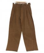 LOEFF(ロエフ)の古着「キャンバスタックパンツ」 ブラウン