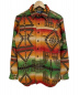 POLO RALPH LAUREN(ポロラルフローレン)の古着「ネイティブ柄シャツ」|オレンジ