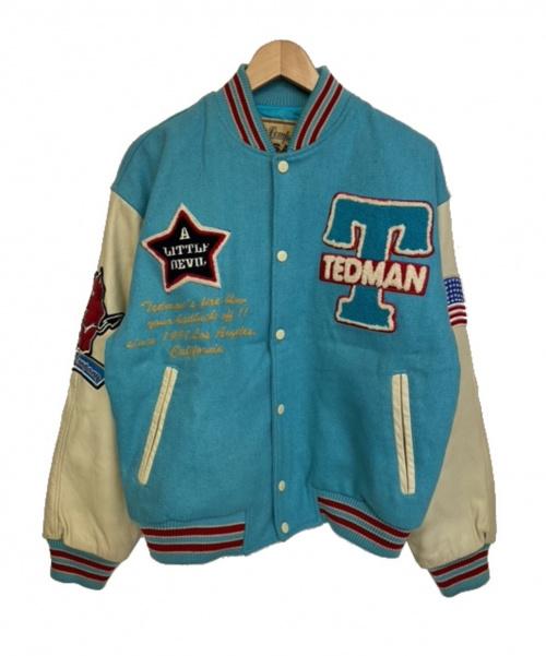 TED COMPANY(テッドカンパニー)TED COMPANY (テッドカンパニー) 袖レザースタジャン ネイビー サイズ:40  希少の古着・服飾アイテム