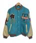 TED COMPANY(テッドカンパニー)の古着「袖レザースタジャン」|ネイビー