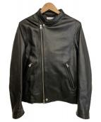 BEAUTY&YOUTH(ビューティーアンドユース)の古着「セミダブル ライダースジャケット」|ブラック