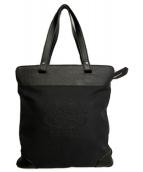 BURBERRY(バーバリー)の古着「エンブレムロゴ刺繍トートバッグ」|ブラック