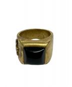 Lilac(ライラック)の古着「オニキスリング」|ゴールド
