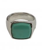 TOM WOOD(トムウッド)の古着「Cushion Turquoise ring」|シルバー×グリーン