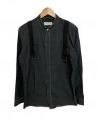 CHRISTIAN DADA(クリスチャンダダ)の古着「ノーカラーシャツ」 グレー