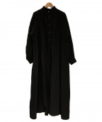 AKTE(アクテ)の古着「ボリュームロングシャツワンピース」|ブラック