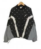 X-GIRL(エックスガール)の古着「オーバーサイズハートナイロンジャケット」|ブラック×グレー