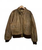 BANANA REPUBLIC(バナナリパブリック)の古着「レザーフライトジャケット」 ブラウン