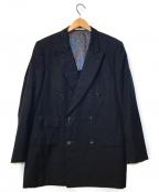 Aquascutum(アクアスキュータム)の古着「[OLD]オールドペイズリーライニングジャケット」 ネイビー