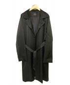 YOKO CHAN(ヨーコチャン)の古着「トリアセテートチェスターコート」|ブラック