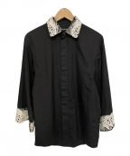 CHRISTIAN DADA(クリスチャンダダ)の古着「装飾デザインシャツ」 ブラック
