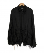 CHRISTIAN DADA(クリスチャンダダ)の古着「レーヨンシルクフリンジシャツ」 ブラック