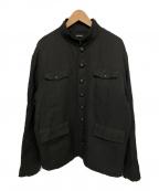 CHRISTIAN DADA(クリスチャンダダ)の古着「コットンリネンホスピタルジャケット」 ブラック