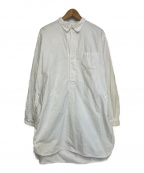 Swedish Army(スウェディッシュアーミー)の古着「グランパシャツ」|ホワイト