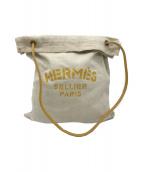 HERMES(エルメス)の古着「アリーヌPM」 ホワイト×イエロー