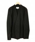 Maison Margiela 10(メゾンマルジェラ 10)の古着「ウールカラーレスジャケット」 ブラック
