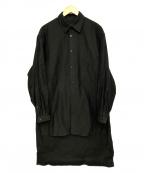 YohjiYamamoto pour homme()の古着「スタッフシャツコート」|ブラック