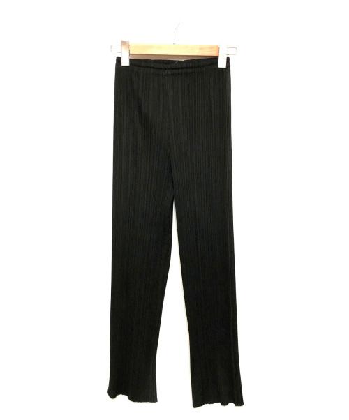 PLEATS PLEASE(プリーツプリーズ)PLEATS PLEASE (プリーツプリーズ) プリーツパンツ ブラック サイズ:1 PP05-JF004の古着・服飾アイテム