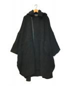 ()の古着「ビッグシルエットウールモッサコート」|ブラック