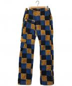 KAPITAL(キャピタル)の古着「パッチワークカーゴパンツ」|ブラウン×インディゴ