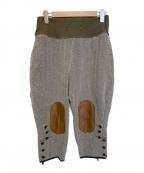 KAPITAL(キャピタル)の古着「ヘリンボーンジョッパーズパンツ」|ホワイト×グリーン