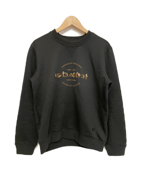 COACH(コーチ)COACH (コーチ) フラワー刺繍ロゴスウェット ブラック サイズ:S 33863の古着・服飾アイテム