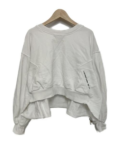 DIESEL(ディーゼル)DIESEL (ディーゼル) バックギャザースウェット ホワイト サイズ:XS 00S75P0IAJH F-MONDY の古着・服飾アイテム