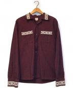 COOTIE(クーティー)の古着「オープンカラーシャツ」|ボルドー