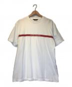 COOTIE(クーティー)の古着「ラインテープTシャツ」|ホワイト