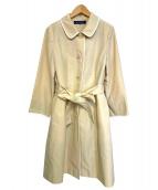 MS GRACY(エムズグレイシー)の古着「ライナー付パイピングデザインステンカラーコート」|ベージュ