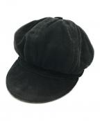 GUCCI(グッチ)の古着「ラムレザーキャスケット」 ブラック