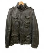 NEIL BARRETT(ニールバレット)の古着「M-65シングルカウレザージャケット」 ブラック