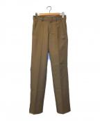 NEON SIGN(ネオンサイン)の古着「スリムテーパードパンツ」|ブラウン