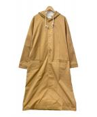 DROLE DE MONSIEUR(ドロール ド ムッシュ)の古着「ロングフードコート」|オレンジ