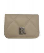 ()の古着「Bロゴコンパクト3つ折り財布」|ベージュ
