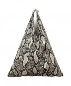 MM6(エムエムシックス)の古着「パイソンデザインジャパニーズトートバッグ」|グレー