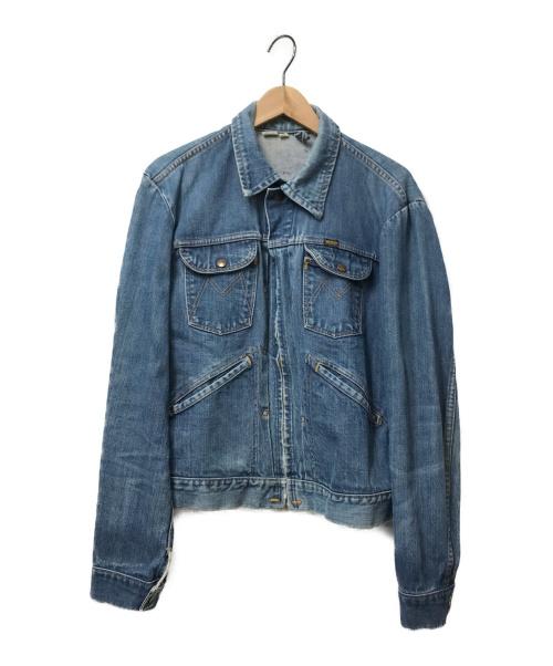 MAVERICK(マーベリック)MAVERICK (マーベリック) [OLD]60sジップアップデニムジャケット インディゴ サイズ:42 棒TALON 60年代の古着・服飾アイテム