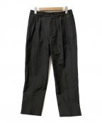 STILL BY HAND(スティルバイハンド)の古着「ウールリネントラウザーパンツ」 ブラック