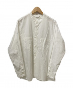 STILL BY HAND(スティルバイハンド)の古着「バンドカラーシャツ」 ホワイト