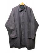()の古着「比翼ステンカラーコート」|ネイビー