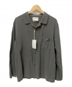 YAECA CONTEMPO(ヤエカ コンテンポ)の古着「コットンリネンパジャマシャツ」|グレー